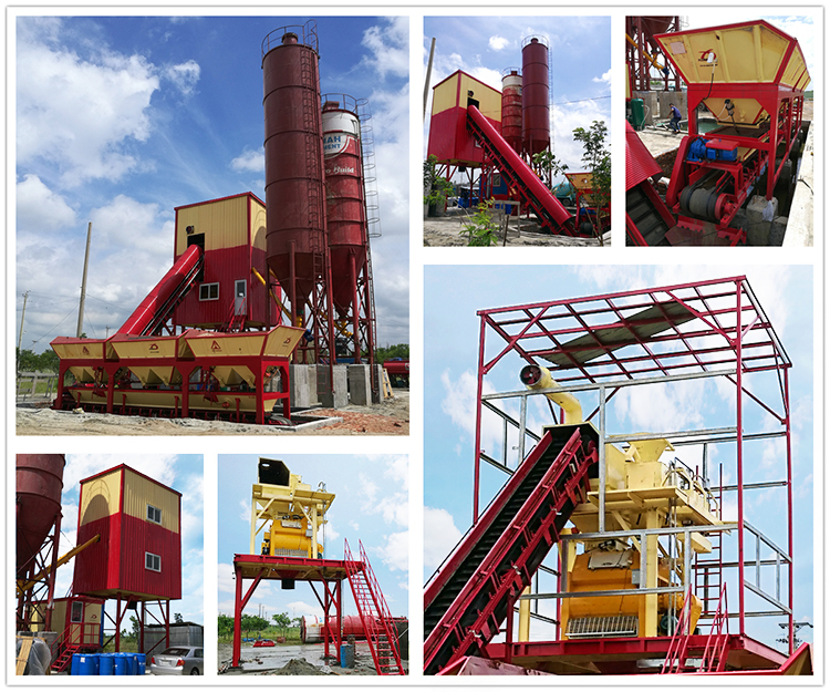 50-60m3/h concrete batching plant